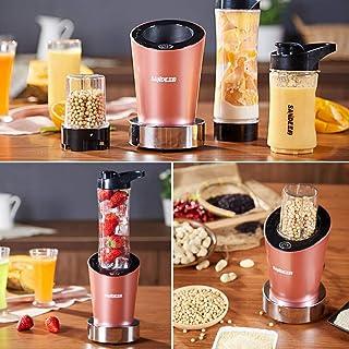 LUO Jcoco Juicer, presse-agrumes multifonctions, mini-mélangeur, meuleuse, double couteau, trois tasses, facile à transpor...