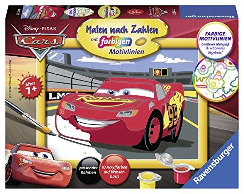 Ravensburger Malen nach Zahlen 27843 - Lightning McQueen - Für Kinder ab 7 Jahren
