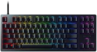 Razer Huntsman Tournament Edition TKL Tenkeyless Gaming Keyboard: Linear Optical Switches - Instant Actuation - Customizable Chroma RGB Lighting - Programmable Macro Functionality - Matte Black