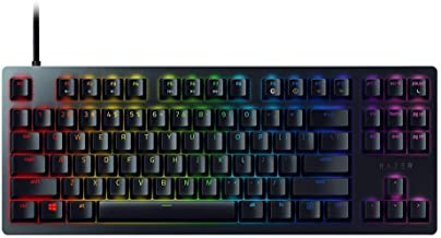 Razer Huntsman Tournament Edition TKL Tenkeyless Gaming Keyboard: Linear Optical Switches - Instant Actuation - Customizable Chroma RGB Lighting - Programmable Macro Functionality - Matte Black