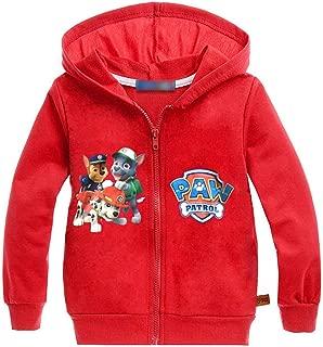 Minin Little Boys Girls Cute Dog Zip Up Hooded Sweatshirt Jacket 2-7Y