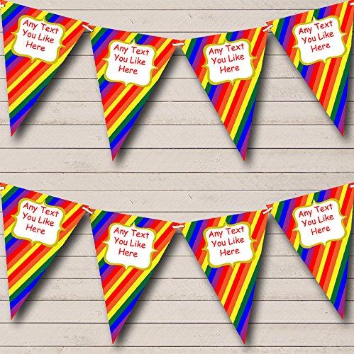 Regenboog strepen gepersonaliseerd carnaval fete straat Bunting partij Banner decoratie slinger Small
