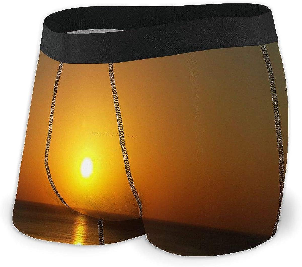 Mens Boxer Briefs Tropical Sunset Beautiful Cute Breathable Underwear