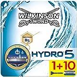 Wilkinson Sword Ffp ECO box Pack Hydro 5 - Kit de afeitado manual con maquinilla de afeitar de 5 hojas para hombre + 11 recambios de cuchillas, cuidado masculino
