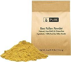 Natural Bee Pollen Powder, 4 oz, ½ TSP Serving, Premium Quality, Pure, Gluten-Free, Non-GMO, Raw, No Preservatives, Paleo,...