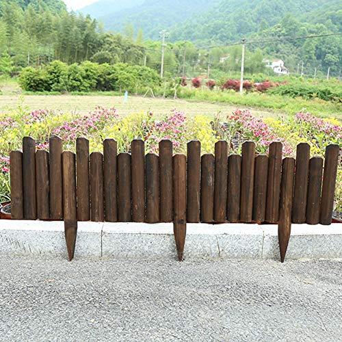 ZAQI Borduras Jardin Borde Cesped Frontera de jardín de Madera, estacas fáciles de Fondos Flexibles, sin excavación, Patio rincón de rincón de rincón de macetas de Flores de Alta decoración.