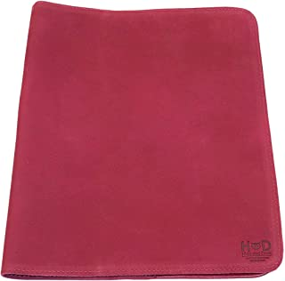 Hide & Drink, Rustic Leather Journal Cover (8.5 x 11 in.) / Refillable Moleskine Cahier XXL Handmade :: Red Velvet Suede