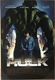 THE INCREDIBLE HULK MOVIE POSTER 2 Sided ORIGINAL 27x40 EDWARD NORTON