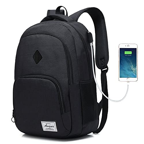 Laptop College Backpack Waterproof Lightweight Minimalism with USB Charging  Port Business School Book Bag Travel Hiking 51ff147c07