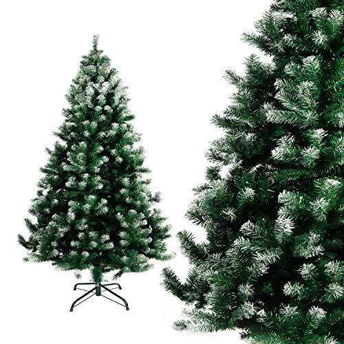 Seekavan Albero di Natale Bianco Verde, Albero di Natale Artificiale in PVC Ignifugodi in Diverse Misure