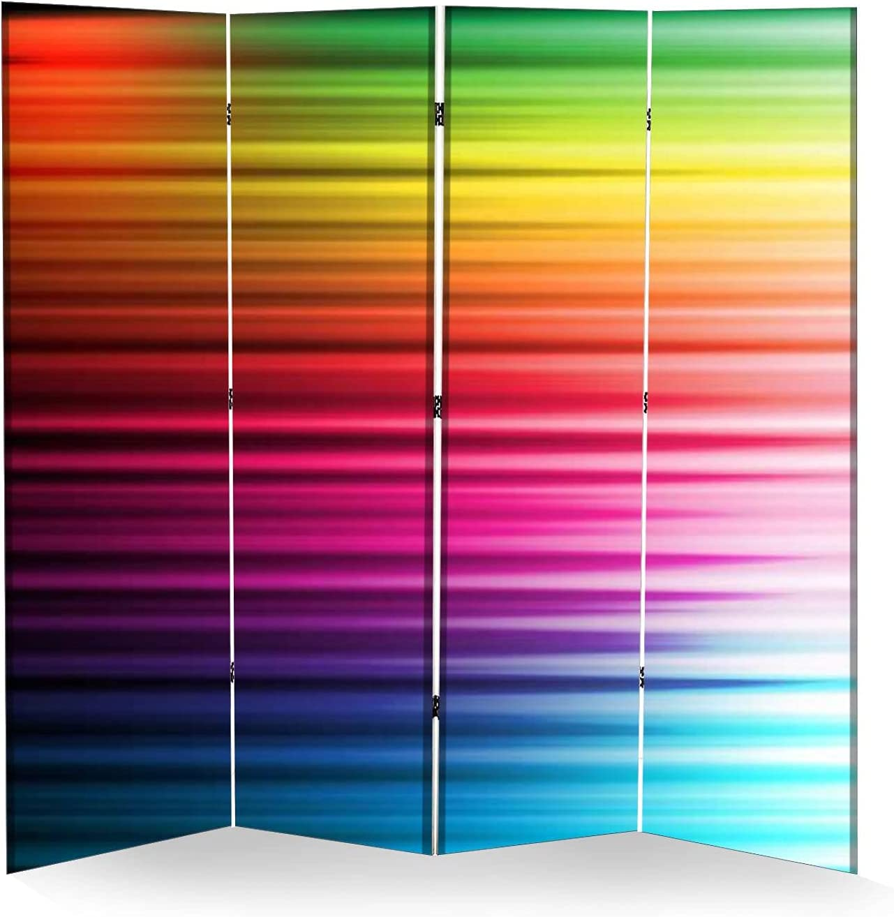 4 Panel Max 89% OFF Wall Divider Colorful Privacy Courier shipping free shipping Background Canvas Folding