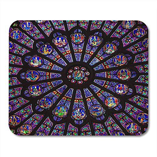 Gaming Mouse Pad Paris 19. Dezember Das North Rose-Fenster In Der Kathedrale Notre Dame Stammt Aus Dem Jahr 1250 Und Ist Auch 12 9 Meter Rechteck-Mausmatte Rutschfeste Gummibasis-Mauspads