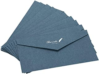 ikuka 10Pcs Paper Envelopes C5/DL Writing Paper Envelopes Business Invitation Letters Envelopes Greeting Cards Cover Hot S...