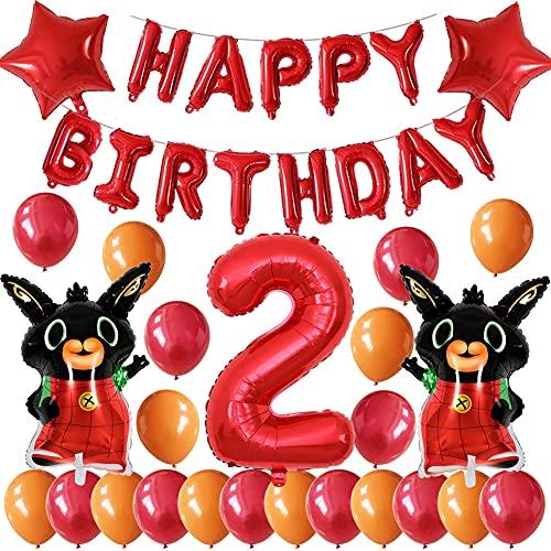 BESTZY Bing Bunny Decorazione per Feste di Compleanno Decorazioni di Compleanno di Palloncini Per ideali come decorazione per secondo di primo compleanno per bambin