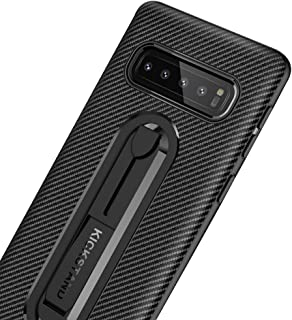 heroisnice S10 Plus Case Luxury Compatible with Samsung Galaxy S10Plus Cases Gs10plus Phone Cover Ultra Thin Gaxaly S 10 Soft Bumper Stand 6.4 Inch (Black)
