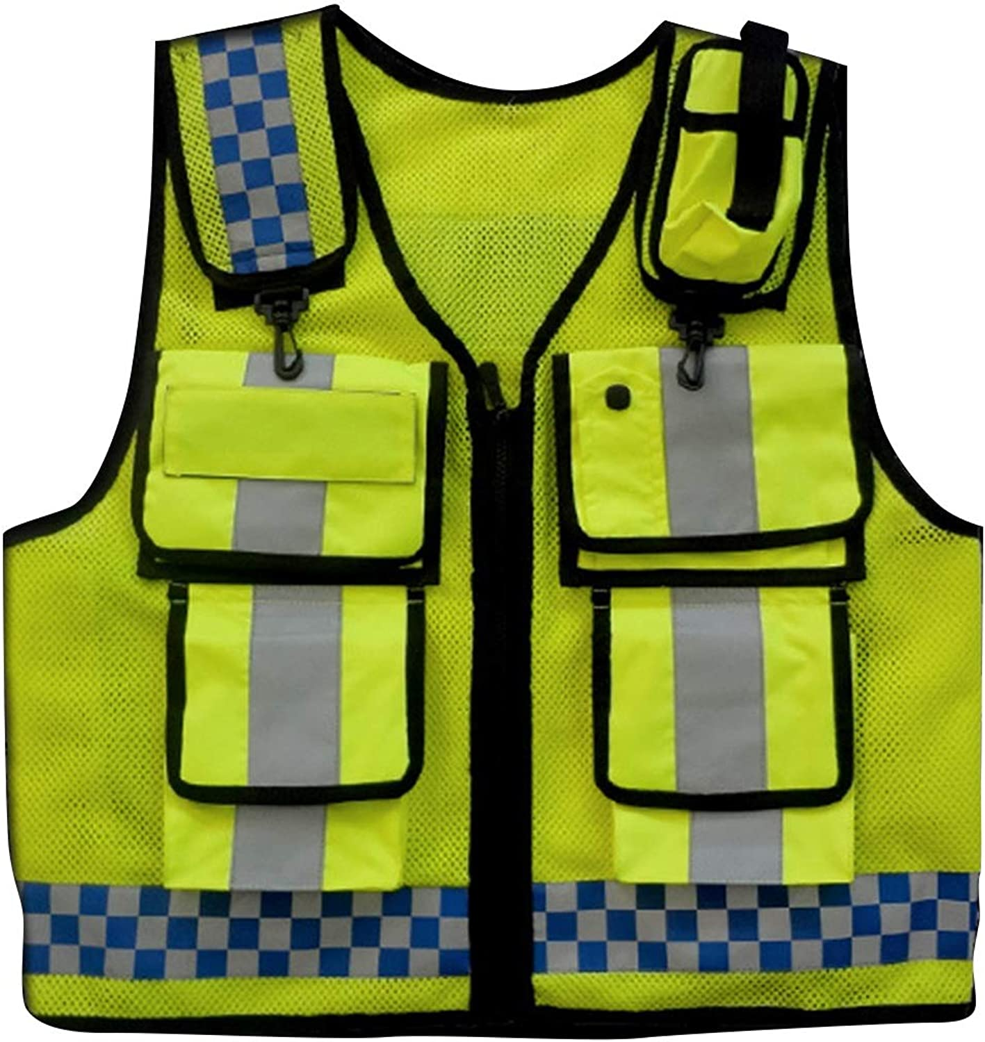 CTARCROW Durable, Reflective Vest Safety Best Fluorescent Belt Unique Highly Visible Work Joke Bike Bicycle Traffic Guard Night Safety Check Fluorescent Reflection Safety Vest for Both Men and Women