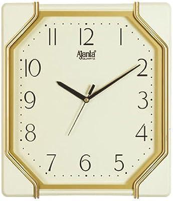 Ajanta Quartz Plastic Wall Clock-617 (28.6Cm X 26.3Cm, Ivory)
