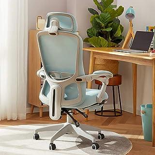 Krzesło biurowe Krzesło Do Gaming Krzesła biurowe do domu, Ergonomiczna krzesło biurowe z podnóżkiem, krzesło biurko z obs...