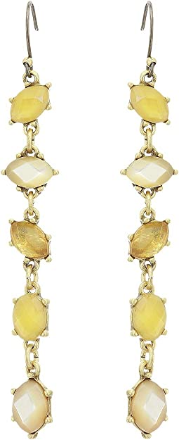 Linear Citrine Earrings