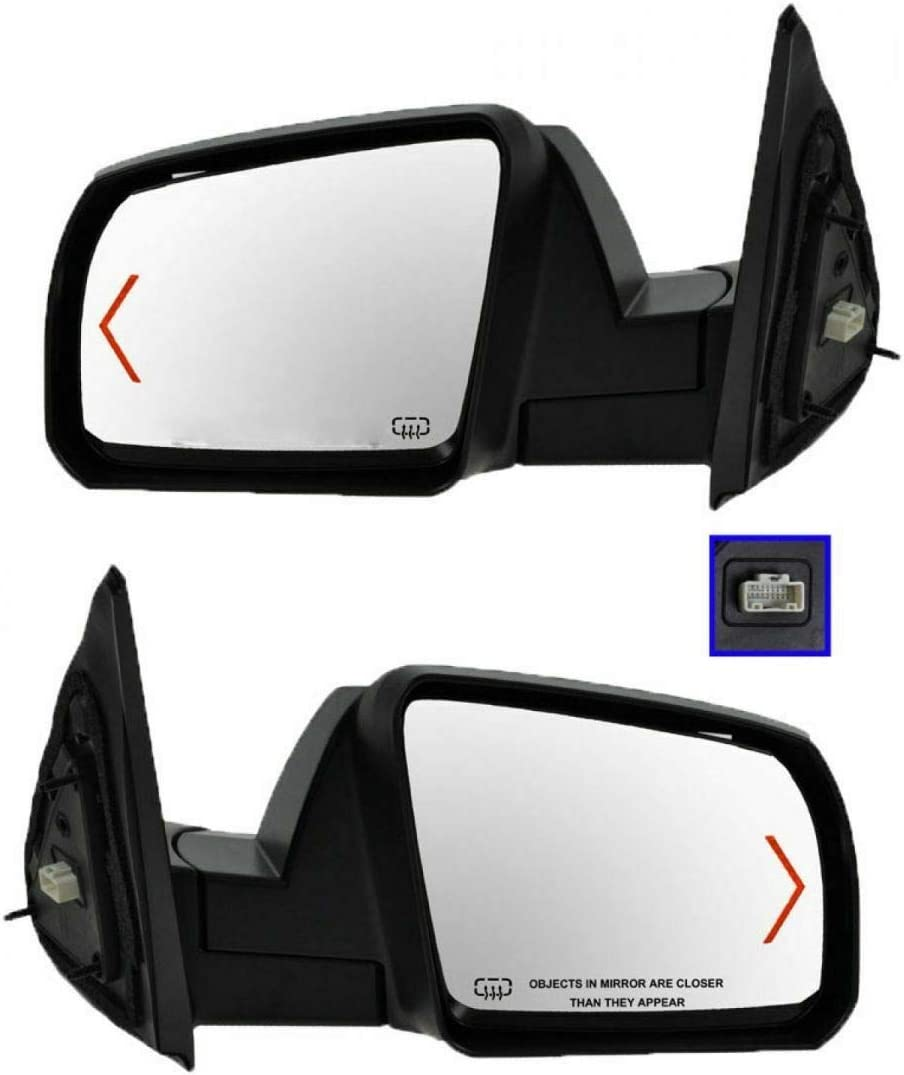 Power Heated Signal Side High quality new Mirror Los Angeles Mall Textured Caps Pair Covers Set Co