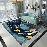 Alfombra Habitacion Arte minimalista moderno abstracto malla...