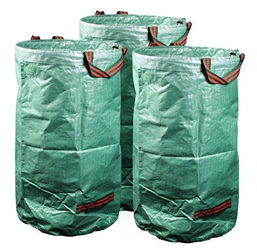mgc24® Gartensack 120l - Stabiler Gartenabfallsack aus robustem Polypropylen Gewebe 150 g/m² - 3er-Set