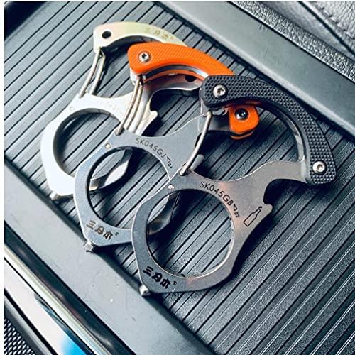 Multifunktionale Schlüsselanhänger / Ring / Schnalle EDC Multi-Tools Outdoor Camping Survival Tools Auto Rettung Glasbrecher (zufällige Farbe)