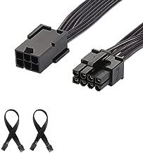 J&D Pack de 2 PCIe 6 Pin a PCIe 8 Pin Adaptador de Alimentación, PCI Express 6 Pin to 8 Pin Adapter Power Cable - 30cm