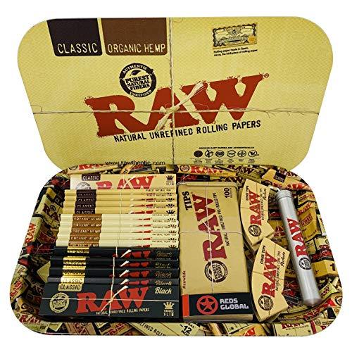 Reds Brand - Juego de bandejas RAW con cubierta magnética