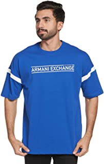 A|X Armani Exchange Men's Short Sleeve Crew Neck All Over Graphic T-shirt White, S