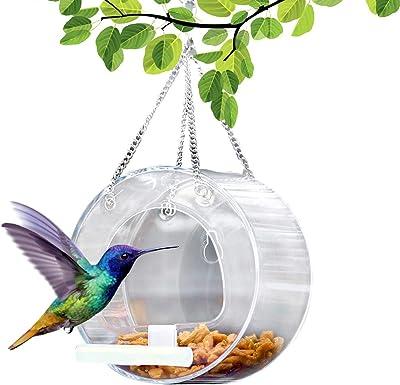 Bird Feeder Garden Hummingbird with Roof Hanging Wild Bird Feeding Stati.h Mf69