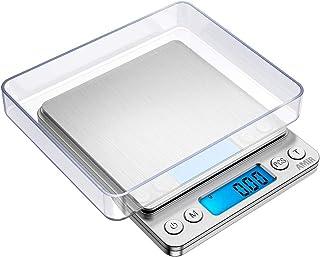 Balanza digital, Balanza de precisión / Balanza de letras / Balanza / Balanza de oro / Balanza de bolsillo, Muy cerca, Despertador profesional fácil, Balanza de bolsillo, 1000 g / 0.1 g