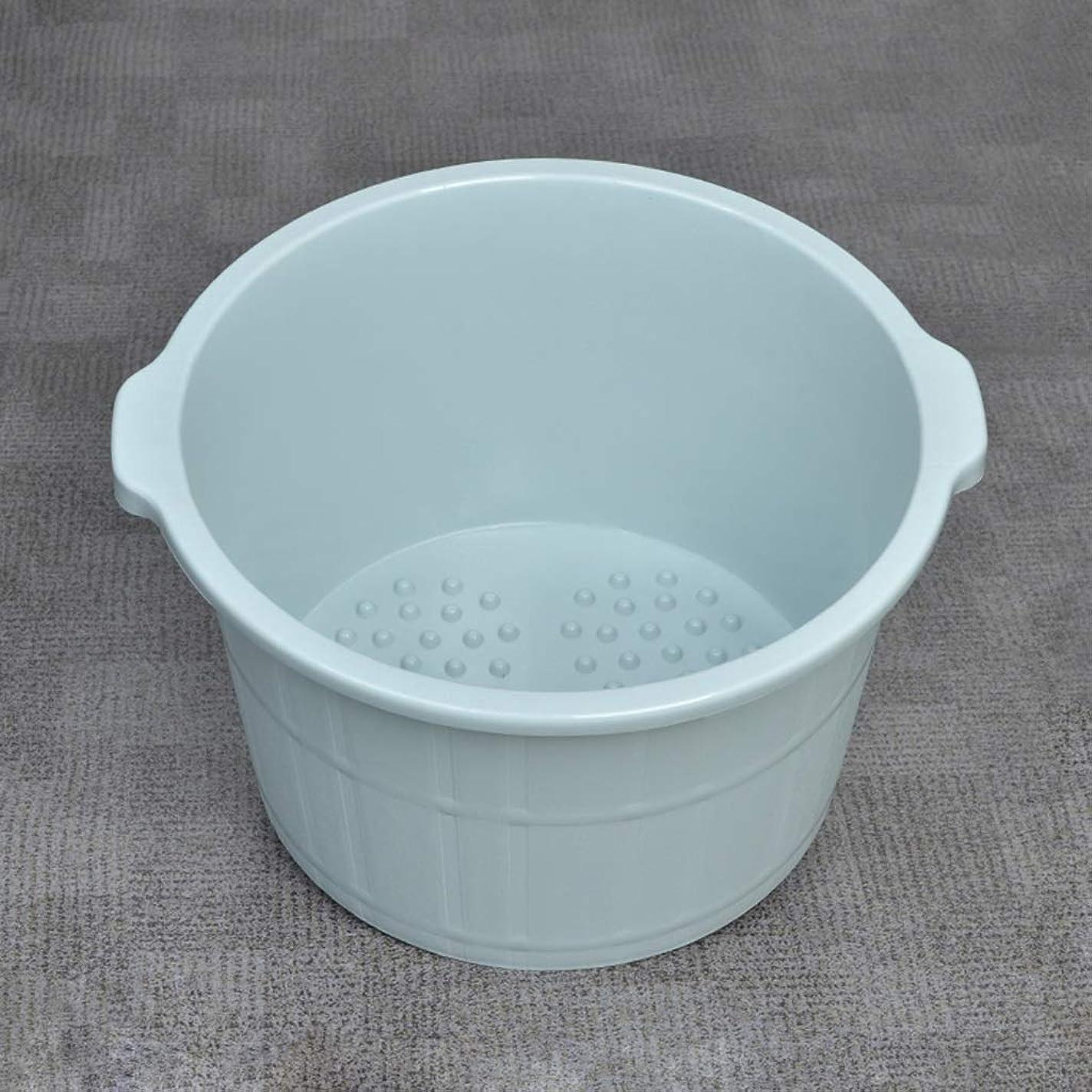 プライバシー物語ブラジャーフットバスバレル- 高めのマッサージ浴槽厚い丈夫な足湯バケツ足洗濯バレルソーク足首世帯 Uak2d XM1209-9-23-10 (Color : Blue)