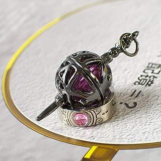 Cartoon Rhinestone Puella Magi Madoka Magica Pendant Necklace Ring Set,Puella Magi Madoka Magica Necklace for Boys, Girls
