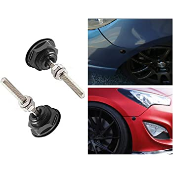 Detectorcatty Aluminum Alloy Mini Engine Hood Cover Lock Universal Push Button Billet Hood Pins Lock Clip Car Quick Latch for Auto Car