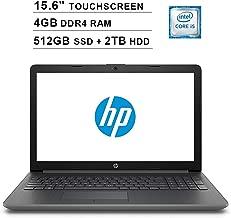 2019 Premium HP 15.6 Inch HD SVA Touchscreen Laptop (Intel Dual Core i5-7200U up to 3.1GHz, 4GB RAM, 512GB SSD(Boot)+2TB HDD, Intel HD Graphics 620, Bluetooth, HDMI, Win10, Grey) (Renewed)