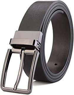 Men Belt Cowhide Soft Leather Belt Reversible Casual Men's Leather Belt (Size : S)