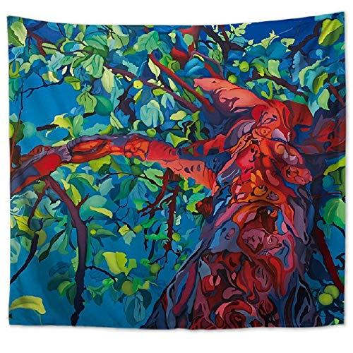 Hermoso bosque natural impreso tapiz de pared grande de hippie colgante de pared tapiz de pared bohemio tela de fondo a9 73x95cm