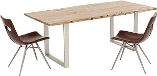 Kare Design Harmony Table en Bois Massif Argenté 200 x 100 cm