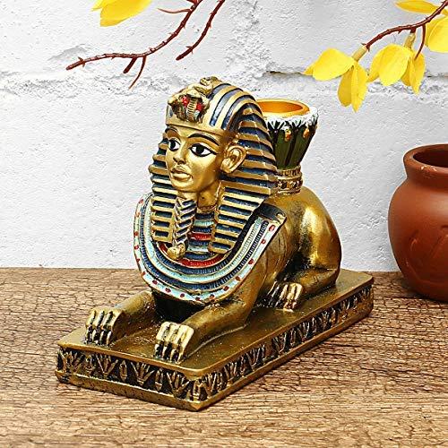 107097 - Candelabro de estatuilla egipcia de resina Anubis Vintage Statue Craft HomeDecorations Gift - # 1