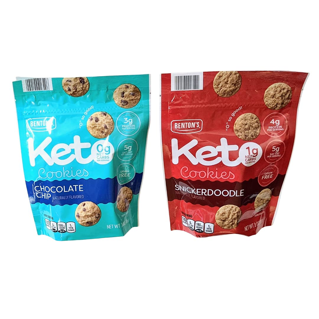 Benton's New sales Keto Cookies Snickerdoodle It is very popular Chocolate 3oz Tw 85g Chip