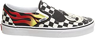 Vans Mens Disney Classic Slip On Mickey & Minnie Blk/Wht Synthetic Size 3.5