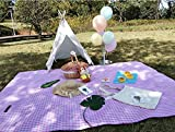 JIYQINLY Pink Outdoor Blanket Picnic with Waterproof Backing, Suitable for Camping, Outdoor Festivals, Beach, 59x57inch