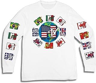 MTV Mens Long Sleeve Shirt - #TBT Mens 1980's Clothing - I Want My T-Shirt