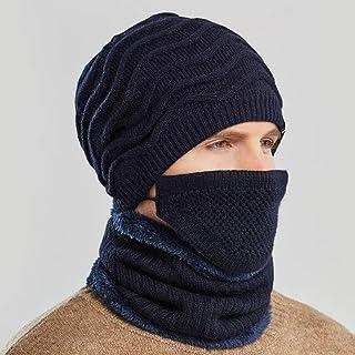 SANTITY Calentar Sombreros Bufanda Máscara Juego de 3 Piezas, Gorro Invierno Cálido Forro Polar Gorro Invierno, Punto Gorr...