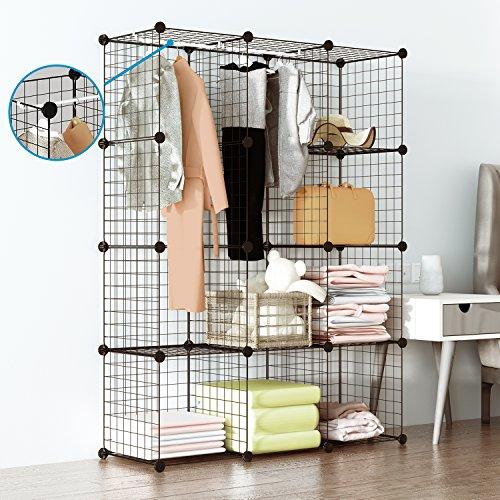 Tespo Wire Cube Storage Shelves Book Shelf Metal Bookcase Shelving...