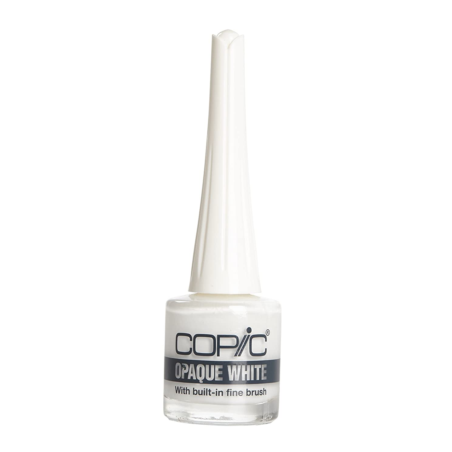 Copic Marker Opaque Water-Based Paint with Brush, 7 ml, White (COPQBRSH)