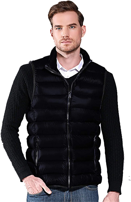 Snhpk Men's Cotton Vest Outerwear Gilets Coat Softshell Jacket, Winter Thicken Warm Windproof Overcoat Waistcoat,007,XXL