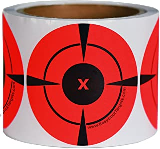 EasyShot Targets Neon Orange Self-Adhesive 3-Inch Bullseye Target Stickers for Shooting, 250 Targets(125/Roll)
