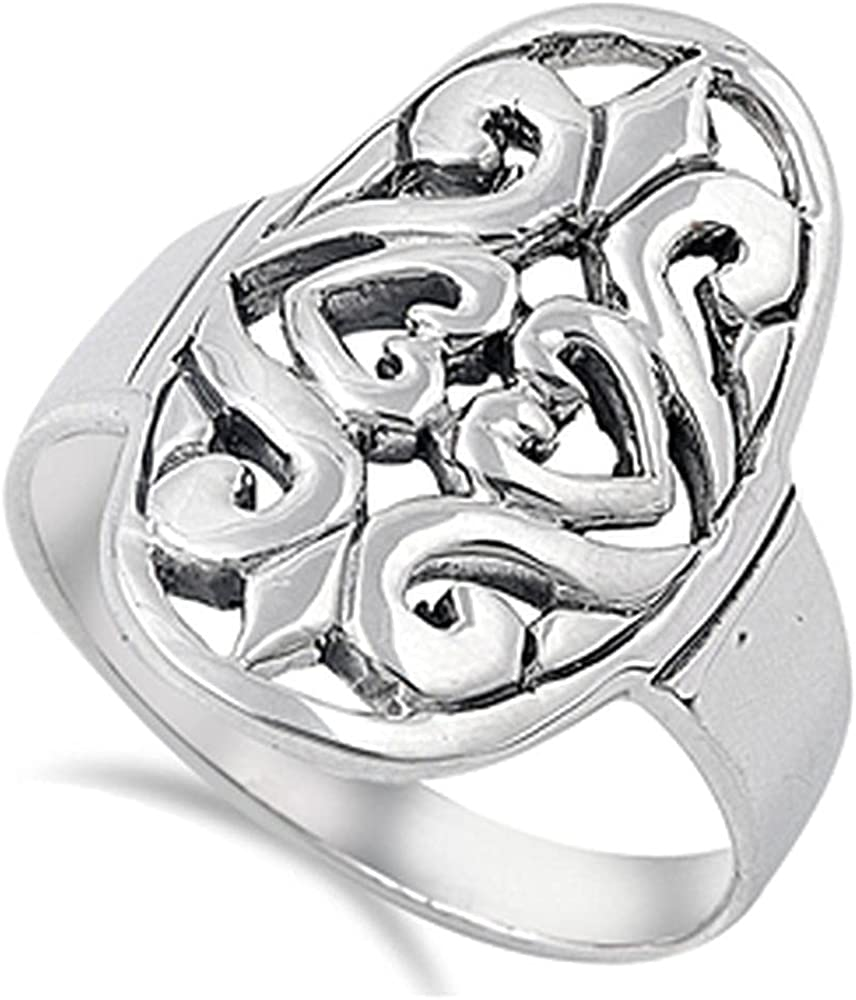 Quality 925 9.74 It is very popular Ring 24 mm 10 to 06 Outstanding Sizes
